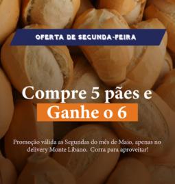 promocao_MonteLibano_delivery_Paes